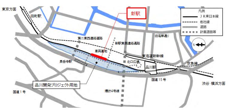 品川新駅の場所