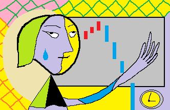 白目となる表情を見せる著者