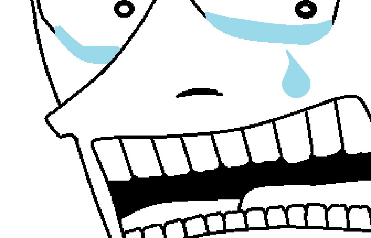 涙を流す筆者の図
