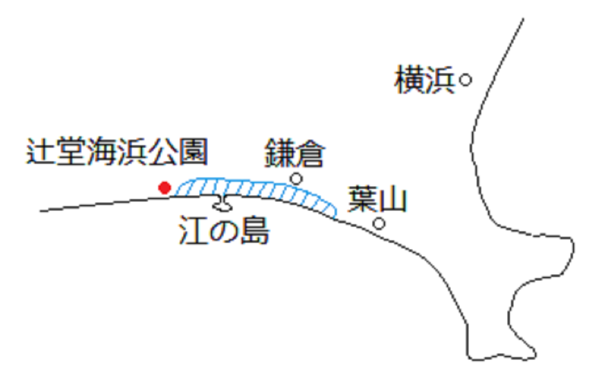 湘南の地図と人気スポット