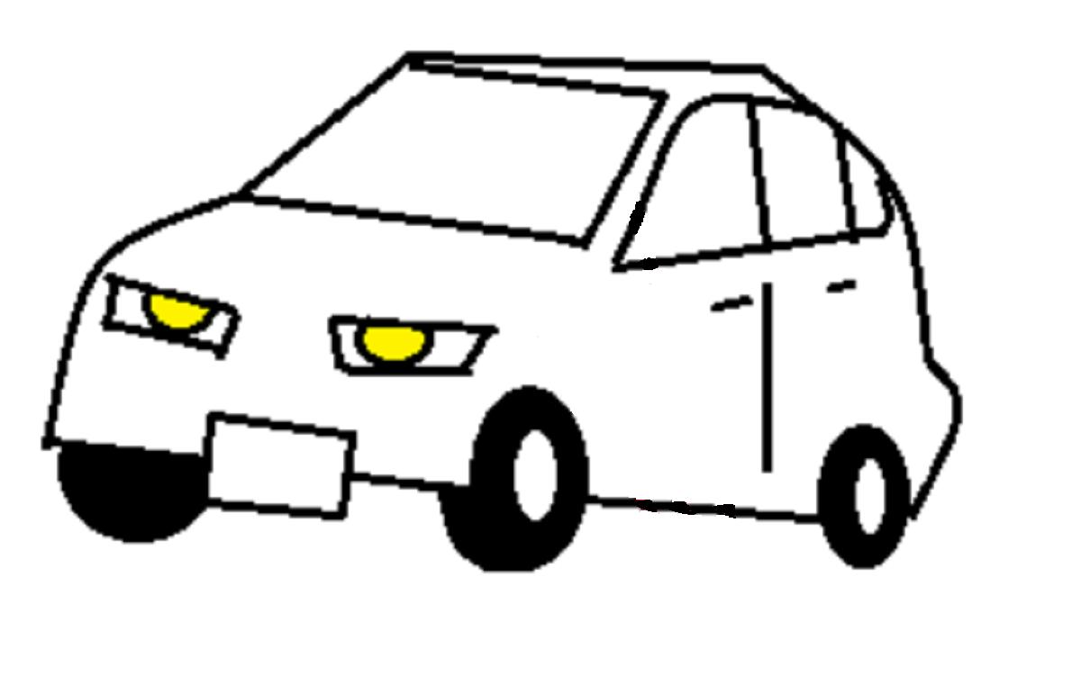 攻撃的な印象の自動車